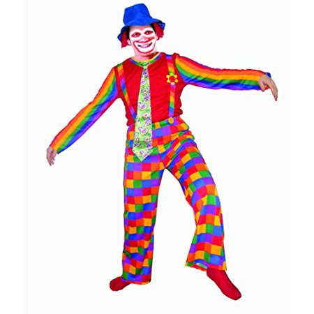 Last Laugh The Clown Costume (Dress Up America Laughing Clown, Multi-Colored,)