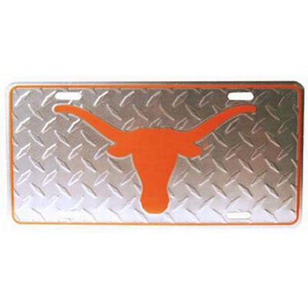 Texas Longhorns Diamond Plate License Plate