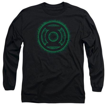 Green Lantern DC Comics Green Flame Logo Adult Long Sleeve T-Shirt Tee