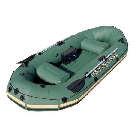 Bestway Inflatable Voyager 1000 2-Person Boat/Raft With Aluminum Oars | 65056B