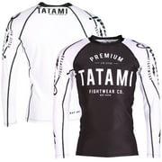 Premium Jiu-Jitsu Long Sleeve Rashguard - Small - Black/White