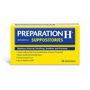 Preparation H Hemorrhoidal Prompt Soothing Relief Suppositories, 24 Ea, 2 Pack