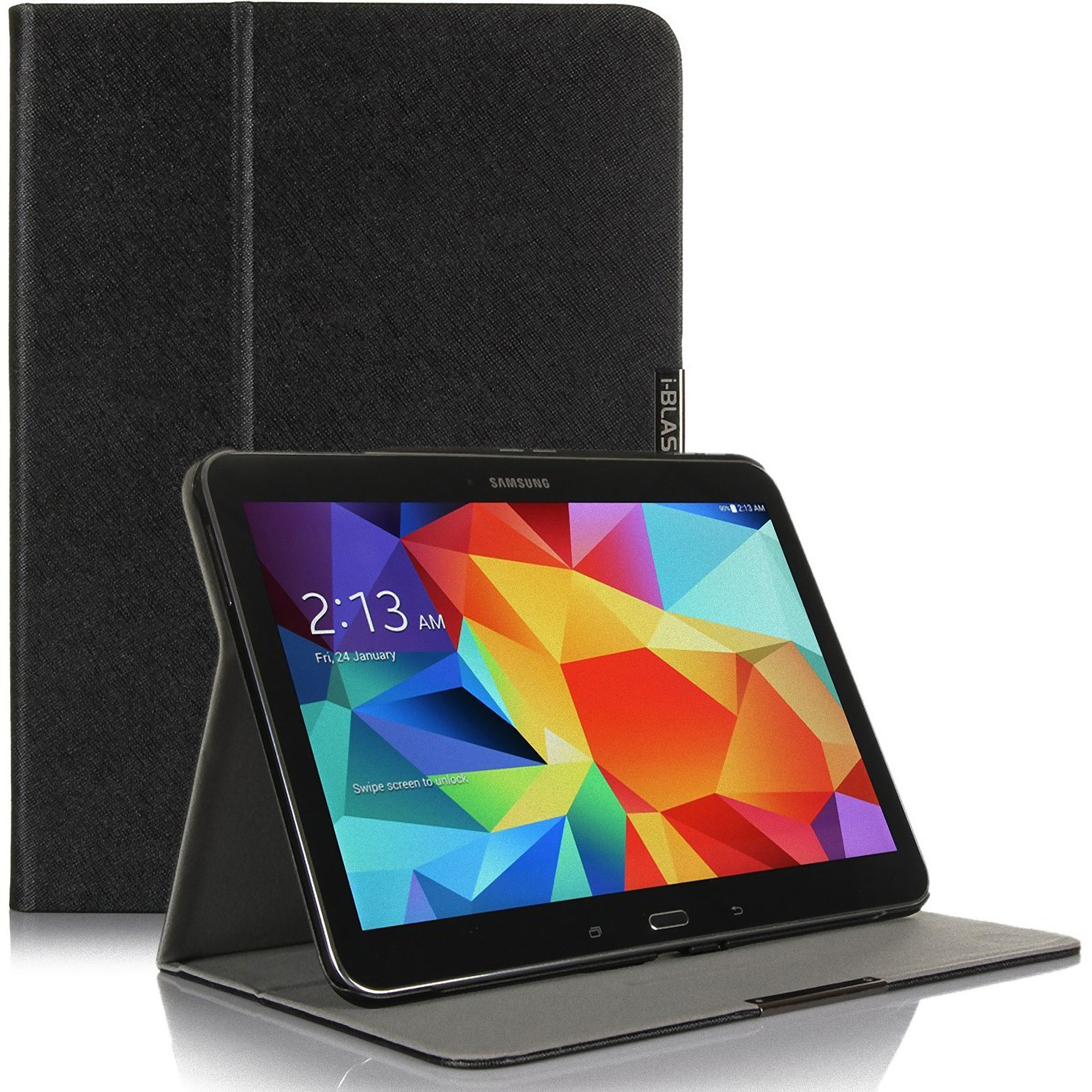 i-Blason Executive Hard Shell Stand Case for Samsung Galaxy Tab 4 10.1, Black