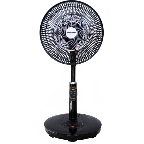 "Keystone KSTFD12AAG 12"" Table-to-Floor Air Accelerator Pedestal Fan with DC Motor and Remote Control, Black"