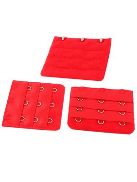 c5a030746f Product Image Ladies 3 x 3 Hooks Brassiere Bra Underwear Extension Strap Extender  Red 3Pieces. Unique Bargains