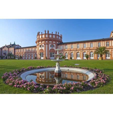 Europe, Germany, Hesse, Wiesbaden, Schloss Biberach on the Bank of the Rhine Print Wall Art By Chris