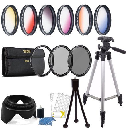 58mm Color Filter + UV CPL ND Accessory Kit Canon EOS Rebel T6i T6 T5i T5 T4i