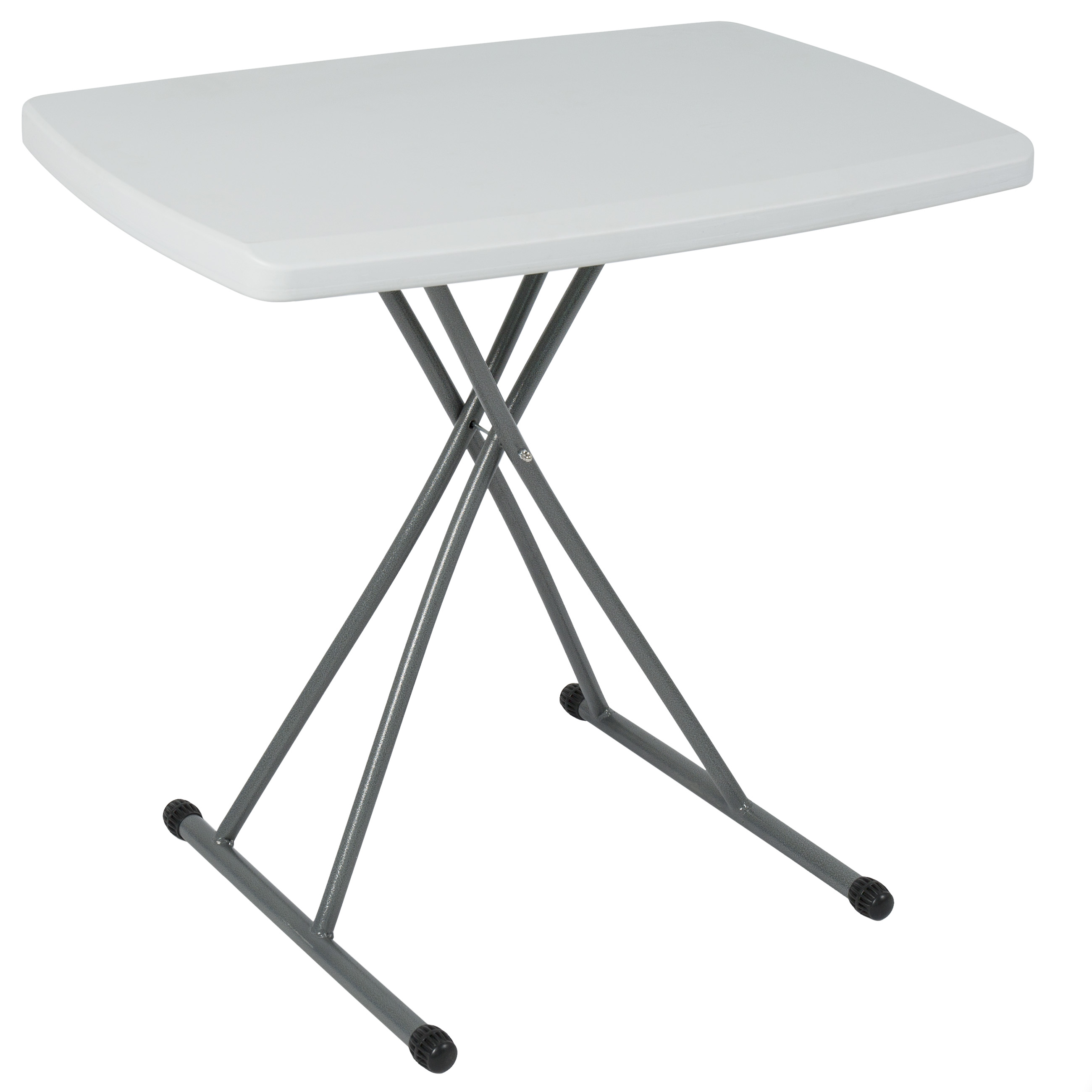 "BCP Portable Personal Folding Table High Adjustable Indoor Outdoor 30"" x 20"" by"