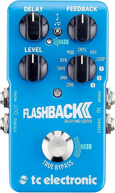 TC Electronic Flashback 2 Delay Guitar Pedal True Bypass by TC Electronic