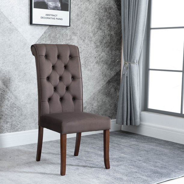 Clearance! Living Room Chair Set of 2, Tufted Velvet Dining Chair