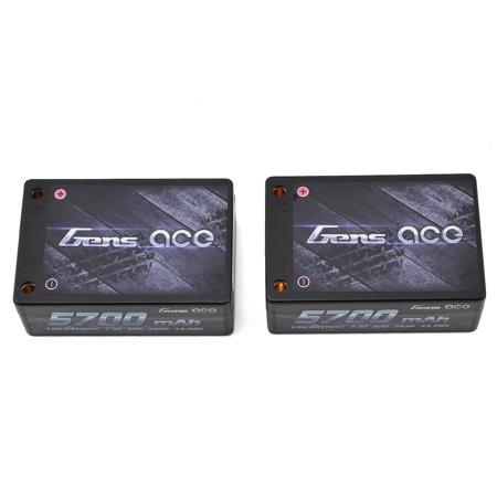 Gens Ace 2S Saddle Pack Lipo Battery 50C  7 4V 5700Mah