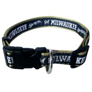 Pets First MLB Milwaukee Brewers Dogs and Cats Collar - Heavy-Duty, Durable & Adjustable - Large