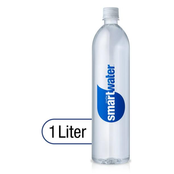 smartwater vapor distilled premium water bottle, 1 Liter