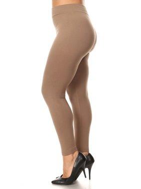 4180564cc673 Product Image Women Queen Size Warm Fleece Lined Full Length Leggings Plus  Size (L 1X