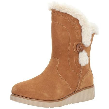 Skechers Winter Boots - skechers women's mid apex winter boot,tan,5.5 m us