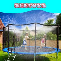DecorX Trampoline sprinklers Trampoline Water Play Sprinklers for Kids (50ft) ,Outdoor Trampoline Spary Park Fun Summer Water Toys,Great for Boys & Girls,Attached On Trampoline Safety Net Enclosure.