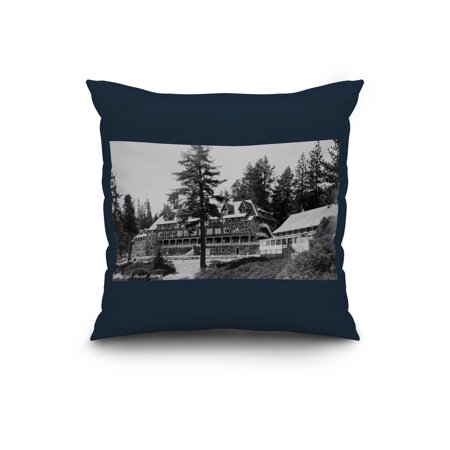 Yosemite National Park Glacier Point Lodge Photograph (20x20 Spun Polyester Pillow, Custom Border)