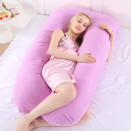 Marvelous Pregnancy Pillow Bedding Full Body Pillow For Pregnant Women Comfortable U Shape Cushion Long Side Sleeping Back Support Maternity Pillows Beatyapartments Chair Design Images Beatyapartmentscom