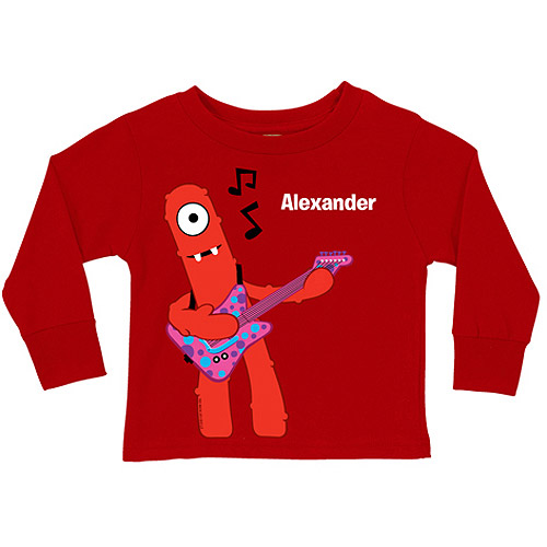 Personalized Yo Gabba Gabba! Muno Music Red Toddler Boys' Long-Sleeve Tee