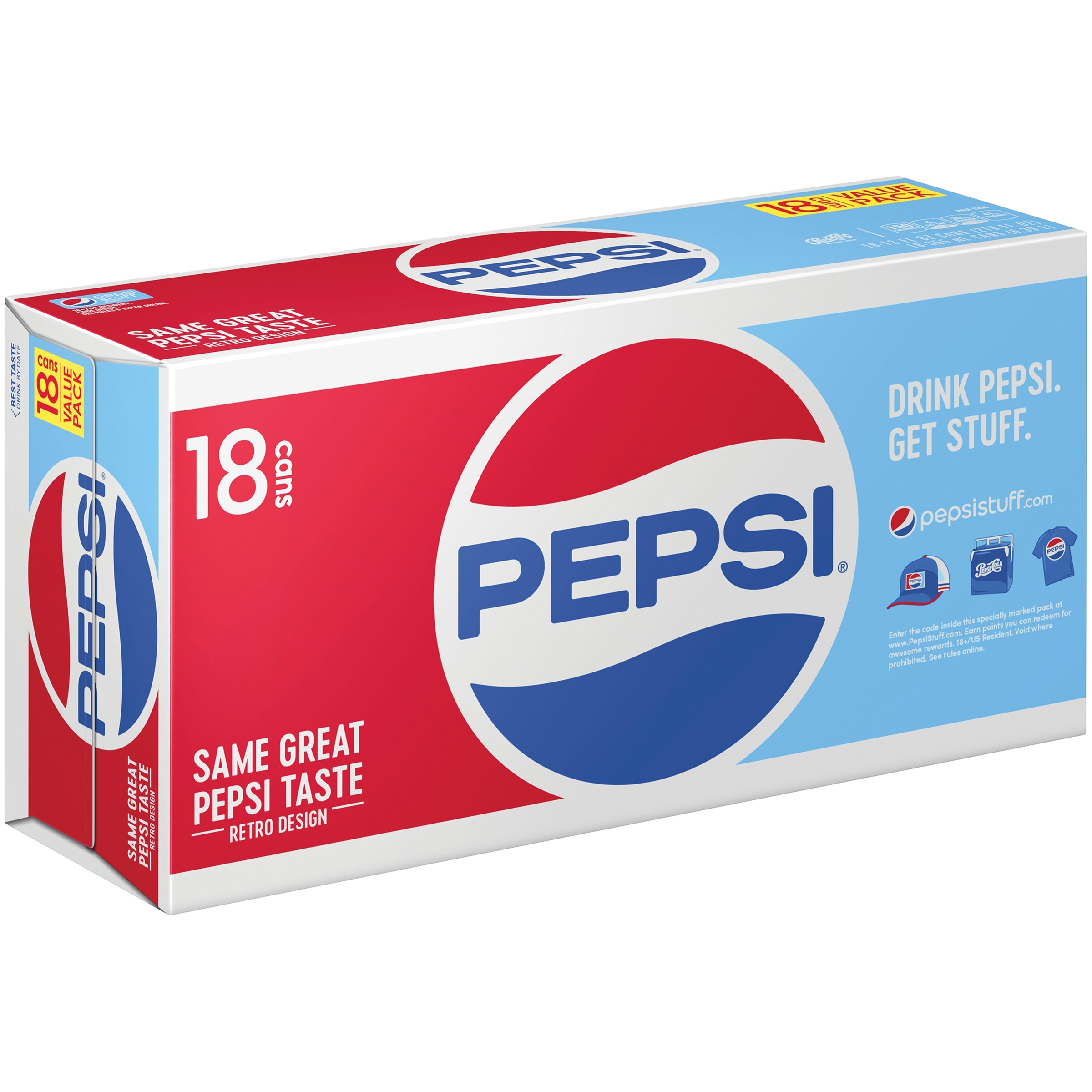 Pepsi® Cola 18-12 fl. oz. Cans
