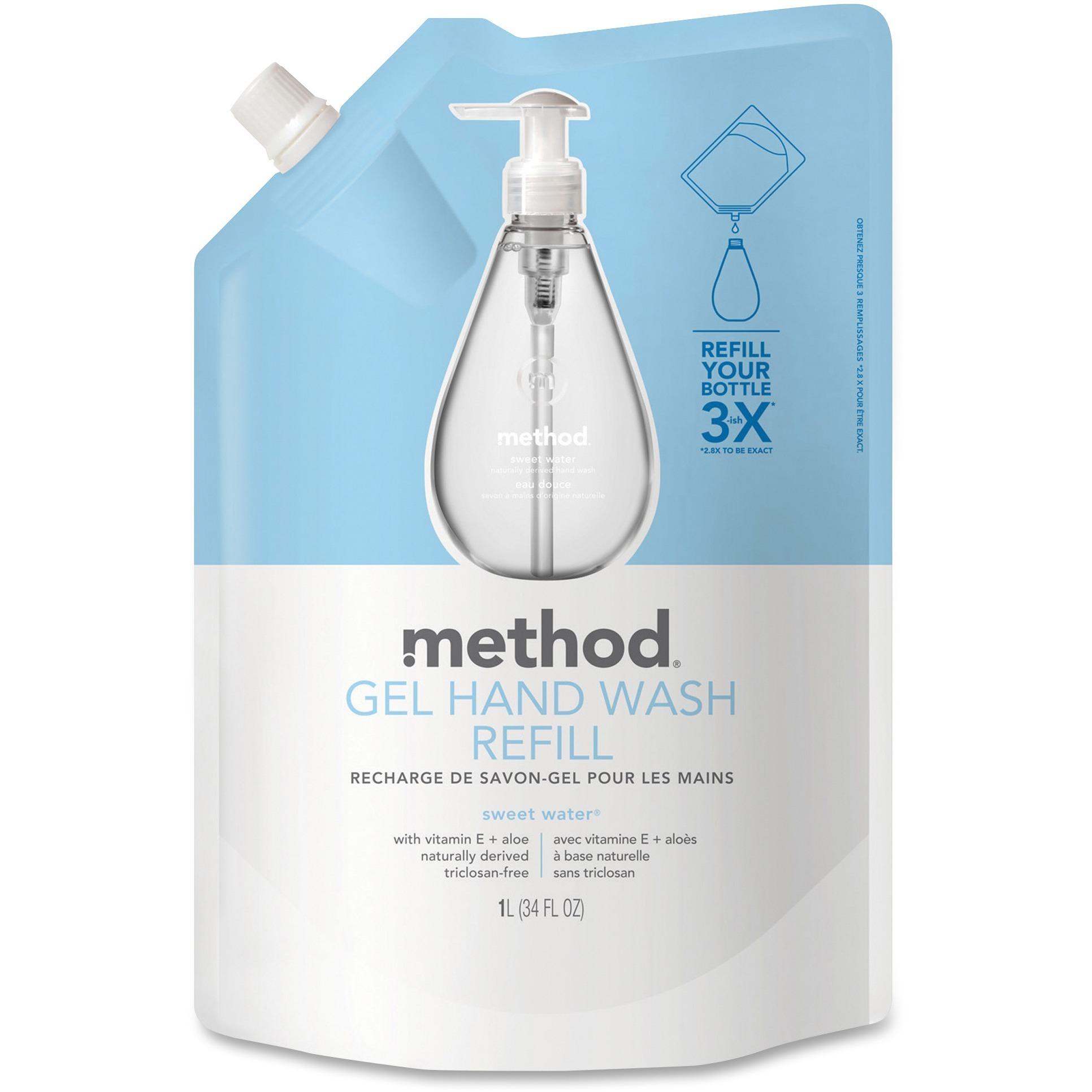Method, MTH00652, Sweet Water Gel Hand Wash Refill, 1 Each, Clear