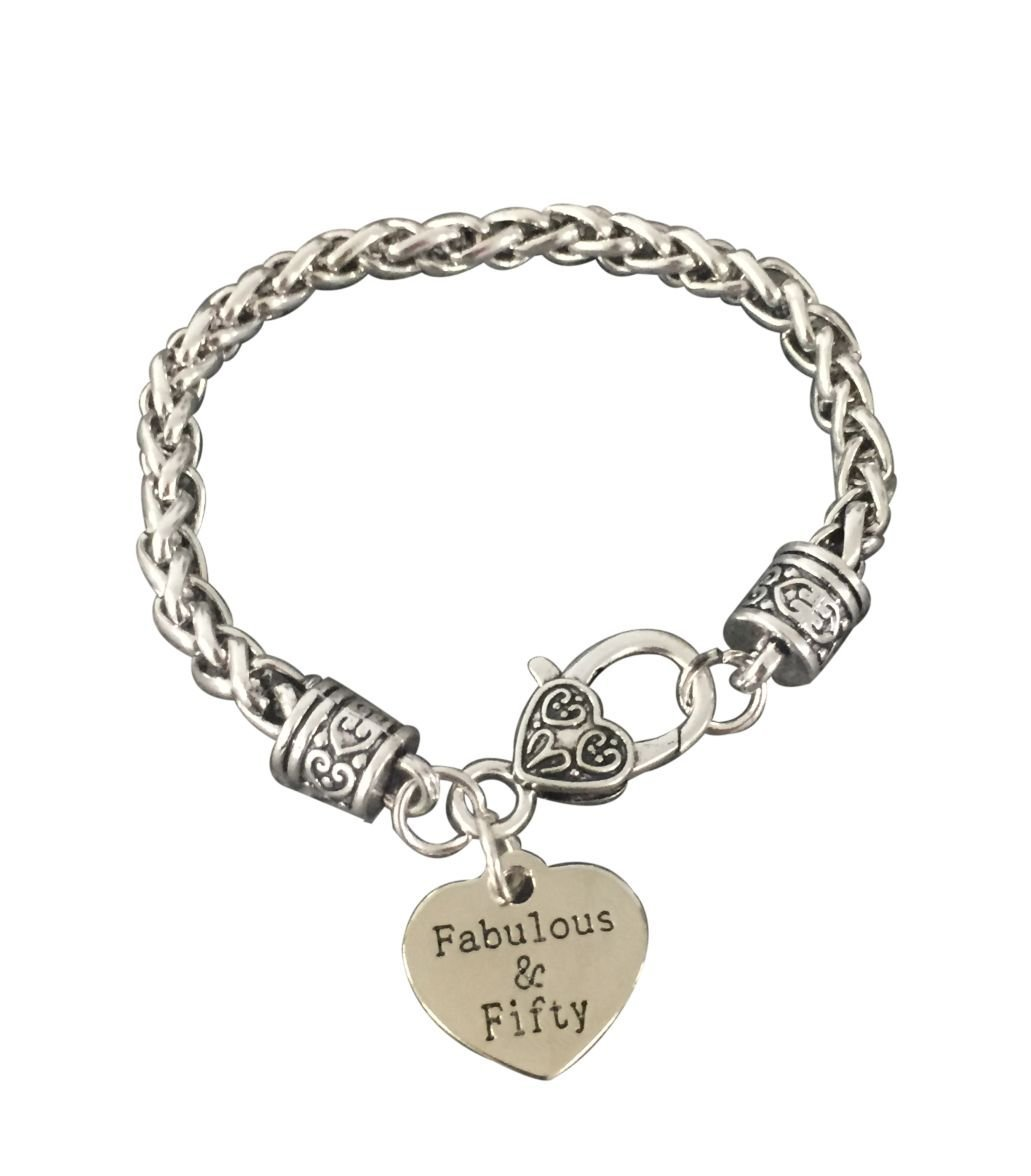 Infinity Collection 50th Birthday Gifts For Women 50th Birthday Charm Bracelet Perfect 50th Birthday Gift Ideas Walmart Com Walmart Com