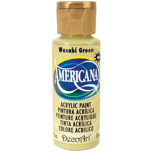 DecoArt Americana Acrylic Paint, 2-Ounce, Wasabi Green