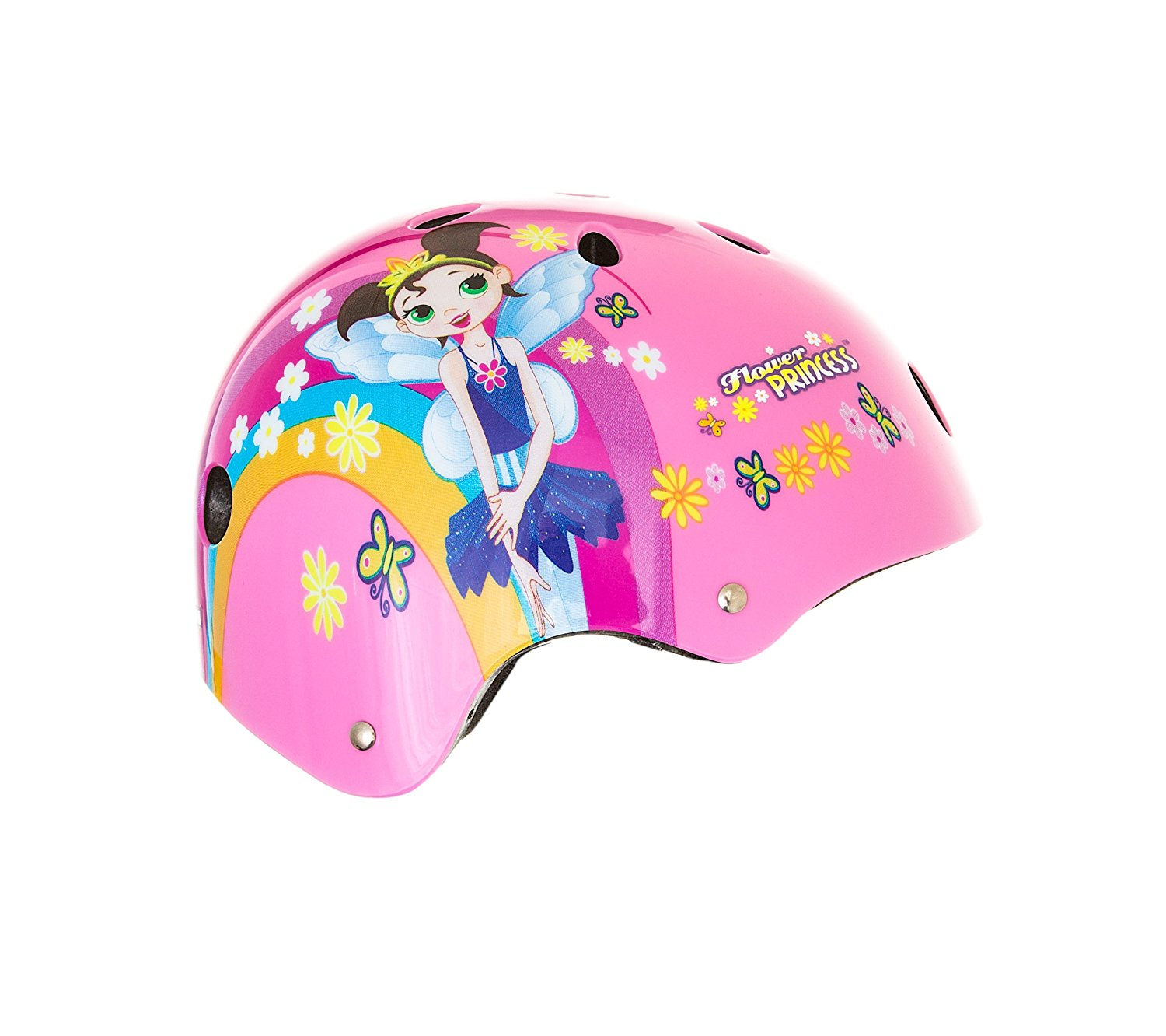 Flower Princess Pink Helmet 11-Vent Multi-Sport Skateboard and BMX, Youth Size Small..., By Titan Ship from US by