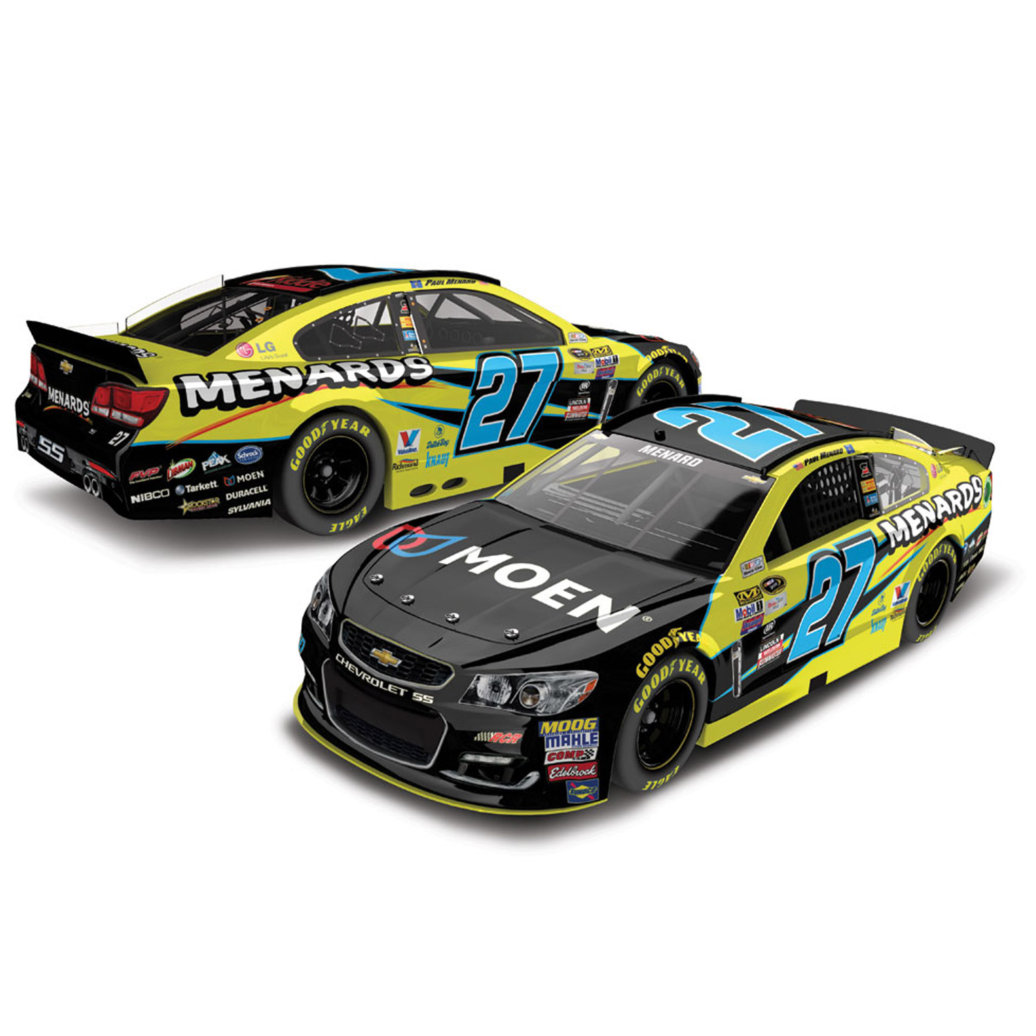 Paul Menard Action Racing 2016 #27 Menard's 1:24 Nascar Sprint Cup Series Platinum... by Lionel LLC