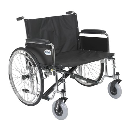 Drive Medical Sentra EC Heavy Duty Extra Wide Wheelchair, Detachable Full Arms, 28
