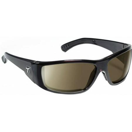 Image of 7 Eye Maestro Sunglasses, Mahogany Frame, SharpView Gray Lens
