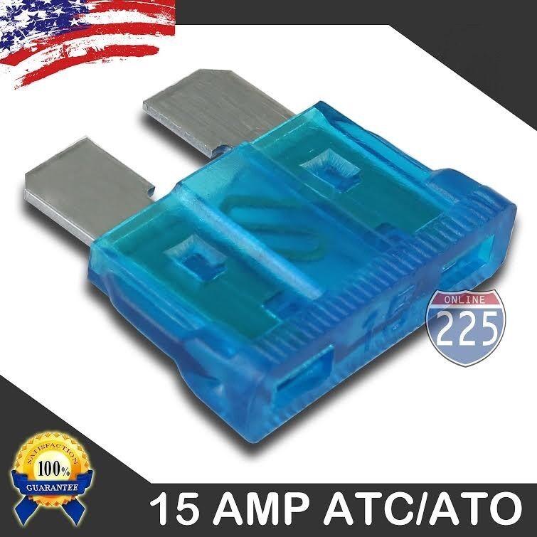 100 Pack 25 AMP ATC//ATO STANDARD Regular FUSE BLADE 25A CAR TRUCK BOAT MARINE RV