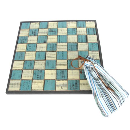 Wooden Sea Checkers Large Checker Board Set Sand Dollars Starfish Nautical Decor](Dollar Tree Halloween Game)