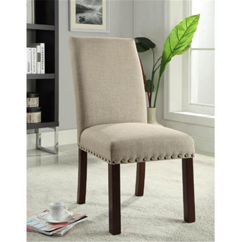 Kinfine K6380-F1326 Linen Tan Nail Head Parsons Chairs by Kinfine