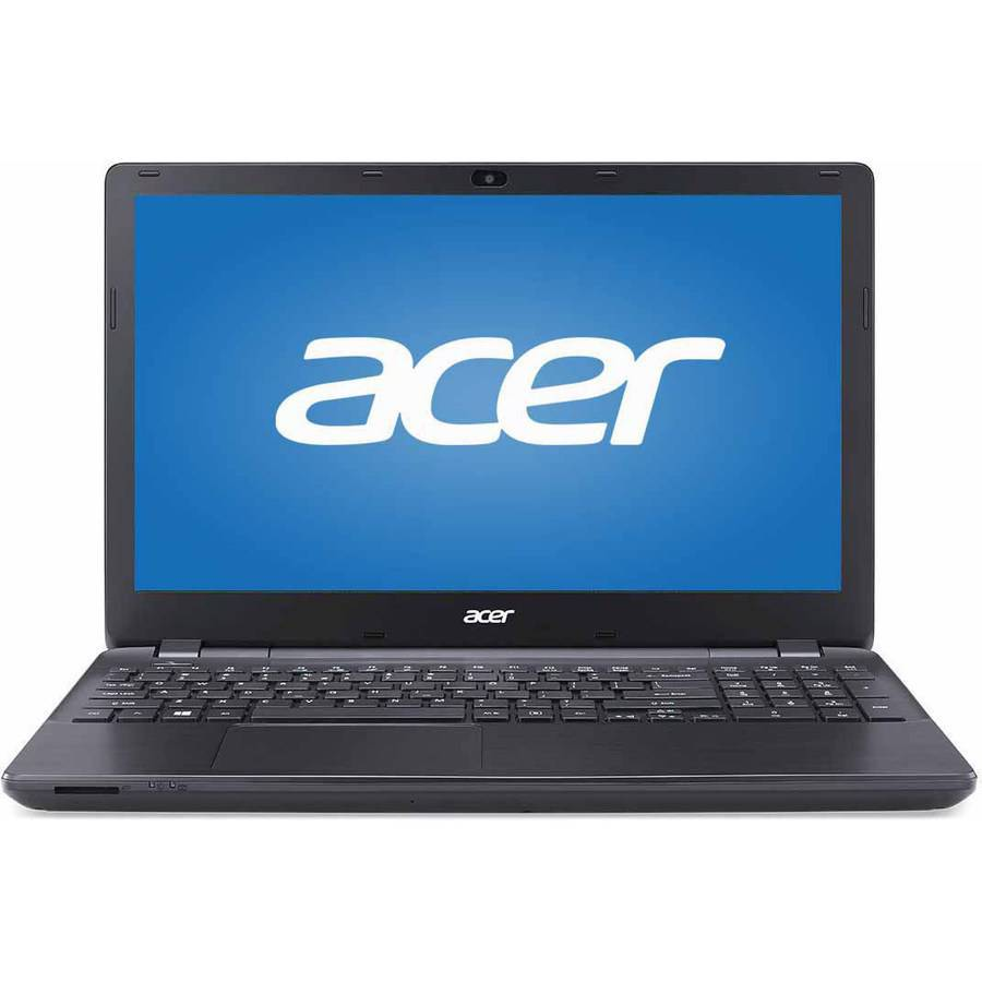 """Acer Black 15.6"""" Aspire E5 Laptop PC with Intel Pentium 3556U Dual-Core Processor, 4GB Memory, touch screen, 500GB Hard Drive and Windows 8.1  (Free Windows 10 Upgrade before July 29, 2016)"""