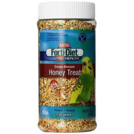 - Kaytee Forti-Diet Pro Health Orange Blossom Honey Parakeet Bird Treats, 10-oz jar