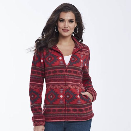K. Jordan Women's Aztec-Print Fleece Jacket In Red - (Best Low Cost Dslr)