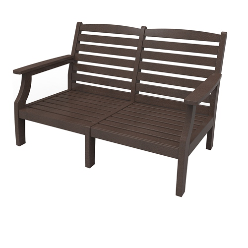 Love Seat by Malibu Outdoor - Monterey, Dark Brown