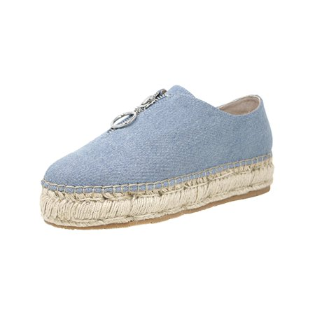 J/Slides Women's Ryan Denim Fabric Ankle-High Fashion Sneaker - 6M (Denim Fashion Boots)