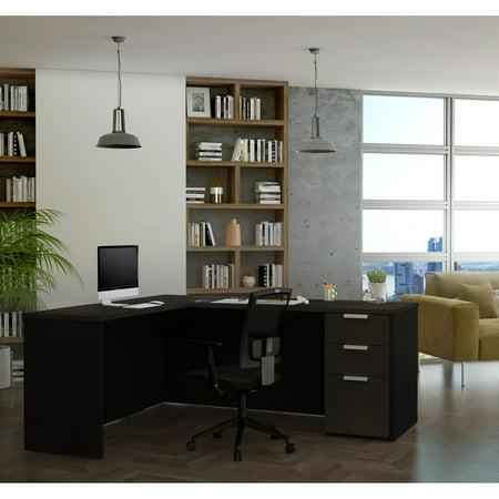 Grey Block (Pro-Concept Plus L-Desk in Deep Grey &)