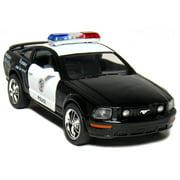 Kinsmart 2006 Ford Mustang GT Police Diecast Car Model 1/38 Scale  Black & White