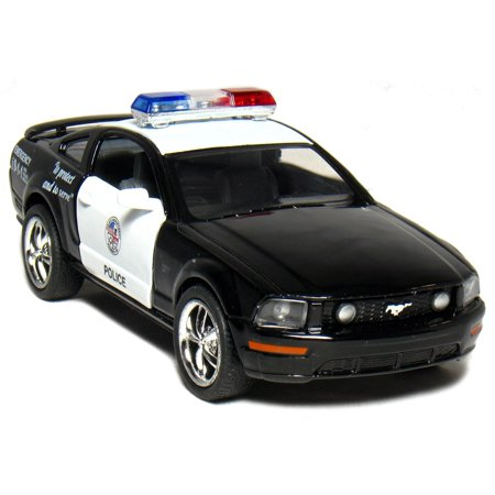 Kinsmart 2006 Ford Mustang GT Police Diecast Car Model 1/38 Scale  Black & White Scale Model Car Parts