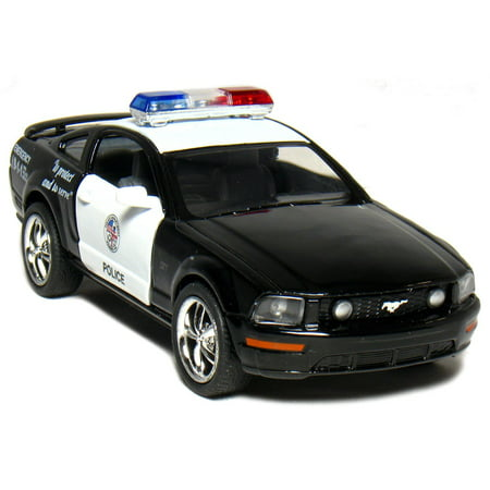 Kinsmart 2006 Ford Mustang GT Police Diecast Car Model 1/38 Scale  Black & - Ford Diecast Car