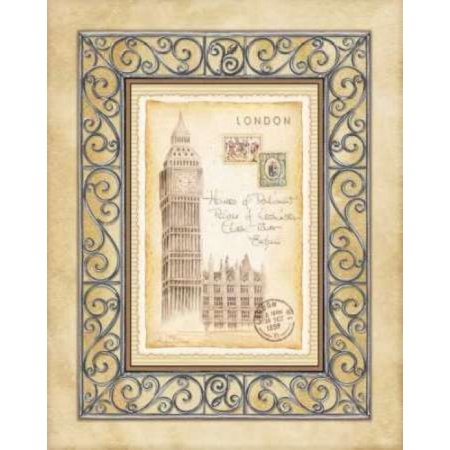 24 Art Postcards - London Postcard Canvas Art - Andrea Laliberte (24 x 30)