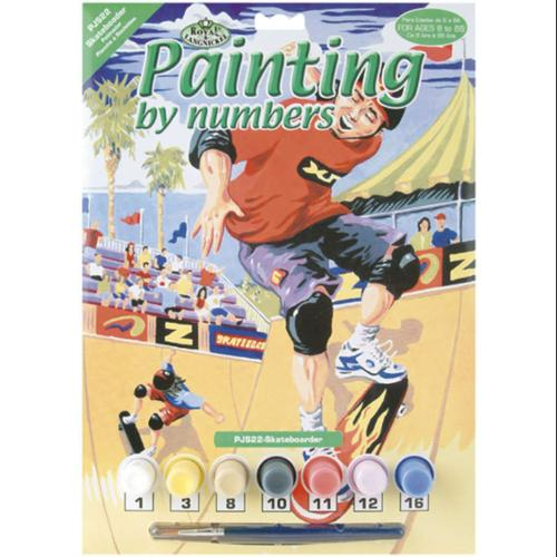 "Junior Small Paint By Number Kit 8-3/4"" X 11-3/4""-Skateboarder"