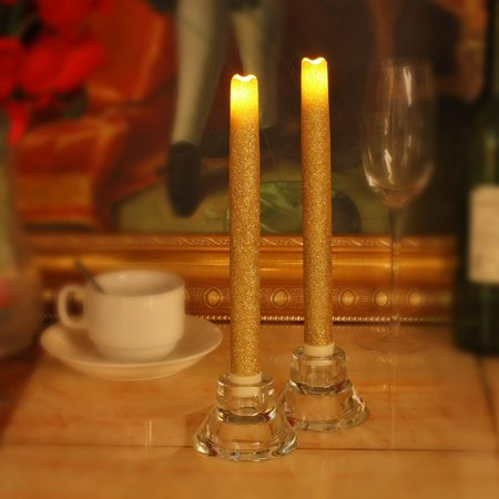 Flameless Taper Candles (9