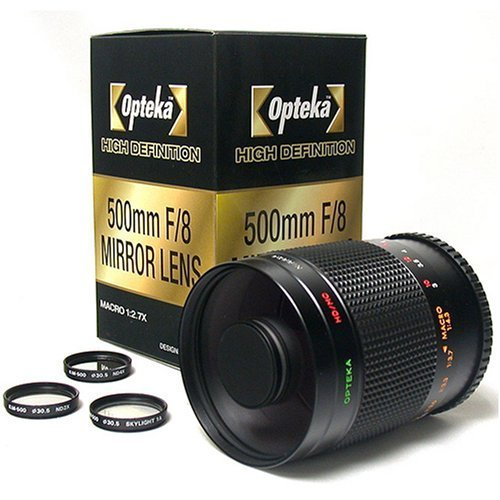 Opteka 500-1000mm High Definition Mirror Telephoto Lens for Nikon 1 J5, J4, J3, J2, S2, S1, V3, V2, V1 and AW1 Compact Mirrorless Digital Cameras