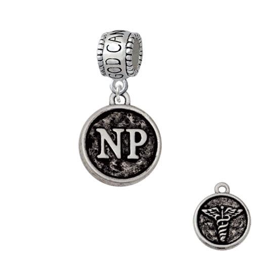 Nurse Caduceus Seal - NP - God Can Charm Bead