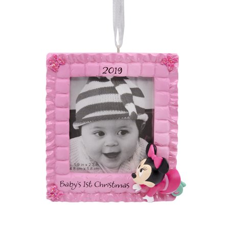Hallmark Disney's 2019 Minnie Mouse Baby's 1st Christmas Christmas Ornaments (Hallmark Ornament First Christmas)