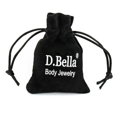 D.Bella Mix Style Clear Piercing Retainer Flexible Lip Ear Nose Septum Eyebrow Nipple Belly Rings Cartilage Tragus Earrings Retainer Bioflex Horseshoe Hoop Clicker Septum Retainer